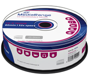 CD-R MEDIARANGE 700MB 80MIN 52X SPEED CAKE 25