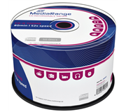 CD-R MEDIARANGE 700MB 80MIN 52X SPEED CAKE 50