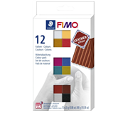 KLEI FIMO STAEDTLER LEATHER EFFECT ASSORTI