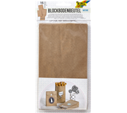 BLOKZAK FOLIA KRAFT NATUREL FOODSAFE 12X6X21CM
