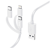 KABEL HAMA USB MIC-A 3IN1 ADAPTER USB-C+LIGHTNING 1 METER WT