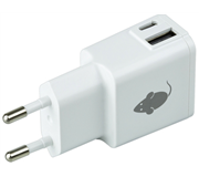 OPLADER GREENMOUSE USB-C+A DUO 2.4A WIT