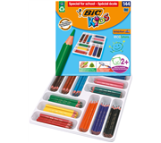 Kleurpotlood  Bic Kids Evolution Schoolbox 144st ass