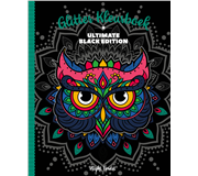 Kleurboek Interstat glitter Black Edition - Night Flowers