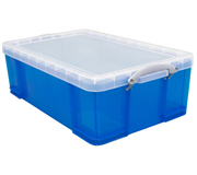 50 Litre Trans Blue Plastic Storage Box