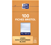 FLASHCARD OXFORD 75X125MM 210GR 100VEL BLANCO WIT