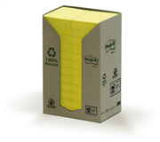 MEMOBLOK 3M POST-IT 653 38X51MM RECYCLE GEEL