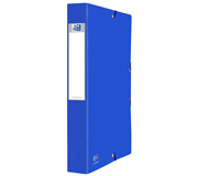 ELASTOBOX OXFORD EUROFOLIO A4 40MM BLAUW