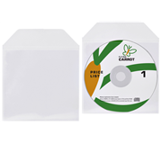 DVD/CD HOES MET KLEP 125X128MM BIO DEGRADABLE TR