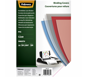 VOORBLAD FELLOWES A4 PVC 180MICRON TRANSPARANT