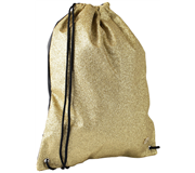 GYMTAS QC SPARKLE MET RITS 43CM GLITTER GOUD