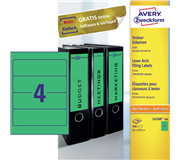 RUGETIKET AVERY ZWECK L4768-100 192X61MM 400ST GN