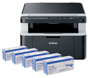 MULTIFUNCTIONAL BROTHER DCP-1612W + 4 TONERS TN-1050