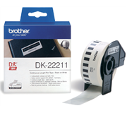 LABEL ETIKET BROTHER DK-22211 29MMX15.24M WIT