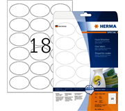 ETIKET HERMA 4358 63.5X42.3MM OVAAL MOVABLE 450ST WIT