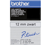 LABELTAPE BROTHER TC-101 12MMX8M TR/ZWART