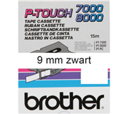 LABELTAPE BROTHER TX-221 9MMX8M WIT/ZWART