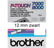 LABELTAPE BROTHER TX-231 12MMX8M WIT/ZWART