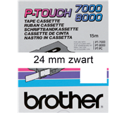 LABELTAPE BROTHER TX-251 24MMX8M WIT/ZWART