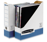 TIJDSCHRIFTCASSETTE BANKERS BOX SYSTEM A4 BLAUW WIT