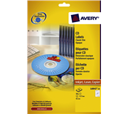ETIKET AVERY CD L6043-25 50ST