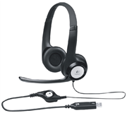 HEADSET LOGITECH H390 OVER EAR USB ZWART