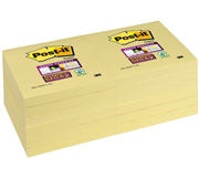 MEMOBLOK 3M POST-IT 654 76X76MM SS GEEL
