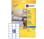 ETIKET AVERY J8161-25 63.5X46.6MM 450ST