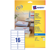 ETIKET AVERY J8162-25 99.1X33.9MM 400ST
