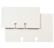 KAARTEN ROLODEX 57X102MM BP-WHT