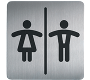 INFOBORD PICTOGRAM DURABLE VIERKANT WC D/H 150MM