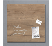 GLAS-MAGNEETBORD SIGEL 480X480X15MM NATURAL WOOD