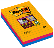 MEMOBLOK 3M POST-IT 4960 SUPER STICKY 101X152MM RIO