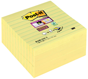 MEMOBLOK 3M POST-IT Z-NOTE S440 SUPER STICKY GEEL
