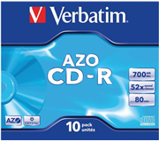 CD-R VERBATIM 700MB 52X 10PK JC