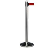 AFZETPAAL SECURIT RVS 100CM ROLBAND 210CM ROOD
