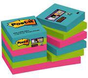 MEMOBLOK 3M POST-IT 622 SUPER STICKY 47.6X47.6MM MIAMI