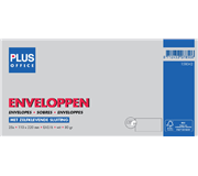 ENVELOP PLUS OFFICE BANK EA5/6 110X220 80GR ZK WIT