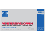 ENVELOP PLUS OFFICE VENSTER VL EA5/6 110X220 80GR ZK