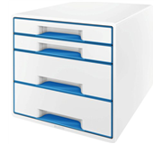 LADENBOX LEITZ WOW 4 LADEN WIT/BLAUW