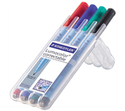 VILTSTIFT STAEDTLER OHP LUMO F 305 CORRECTABLE ASS