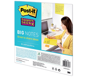 SCRUM BIG NOTES 3M POST-IT 27.9X27.9CM GEEL