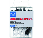 MINIKNIJPER HOUT PLUS OFFICE 34MM ASSORTI