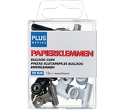 PAPIERKLEM BULLDOG BUDGET 20MM ASSORTI