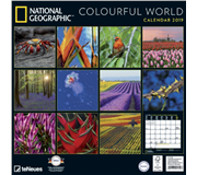 KALENDER 2019 TENEUES NAT COLOURFUL WORLD 30X30CM