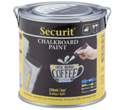 KRIJTBORD SECURIT ACRYLVERF WATERBASIS 250ML ZWART