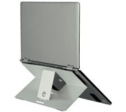 LAPTOPSTANDAARD R-GO ATTACHABLE ZILVER