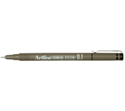 FINELINER ARTLINE 0.1MM ZWART