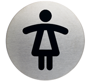 INFOBORD PICTOGRAM DURABLE WC DAMES ROND 83MM